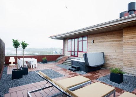Wow … dit penthouse met bubbelbad en wintertuin is super