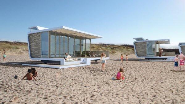 strandhuisjes met uitzicht op de noordzee. Black Bedroom Furniture Sets. Home Design Ideas