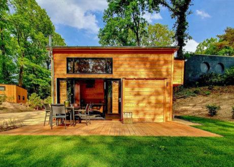 Ontdek dit tiny house op Droompark Maasduinen